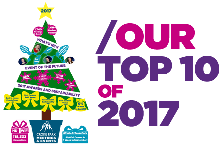 Our Top 10 of 2017 at Croke Park Meetings & Events
