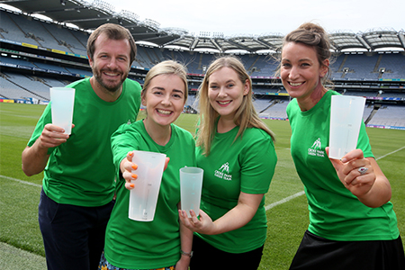 Croke Park's first-ever trial of reusable cups
