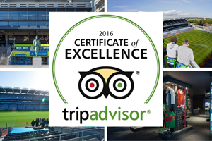 GAA Museum & Tours Earn 2016 TripAdvisor Certificate of Excellence