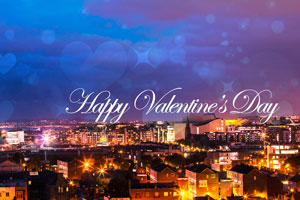 Valentine's on the Etihad Skyline