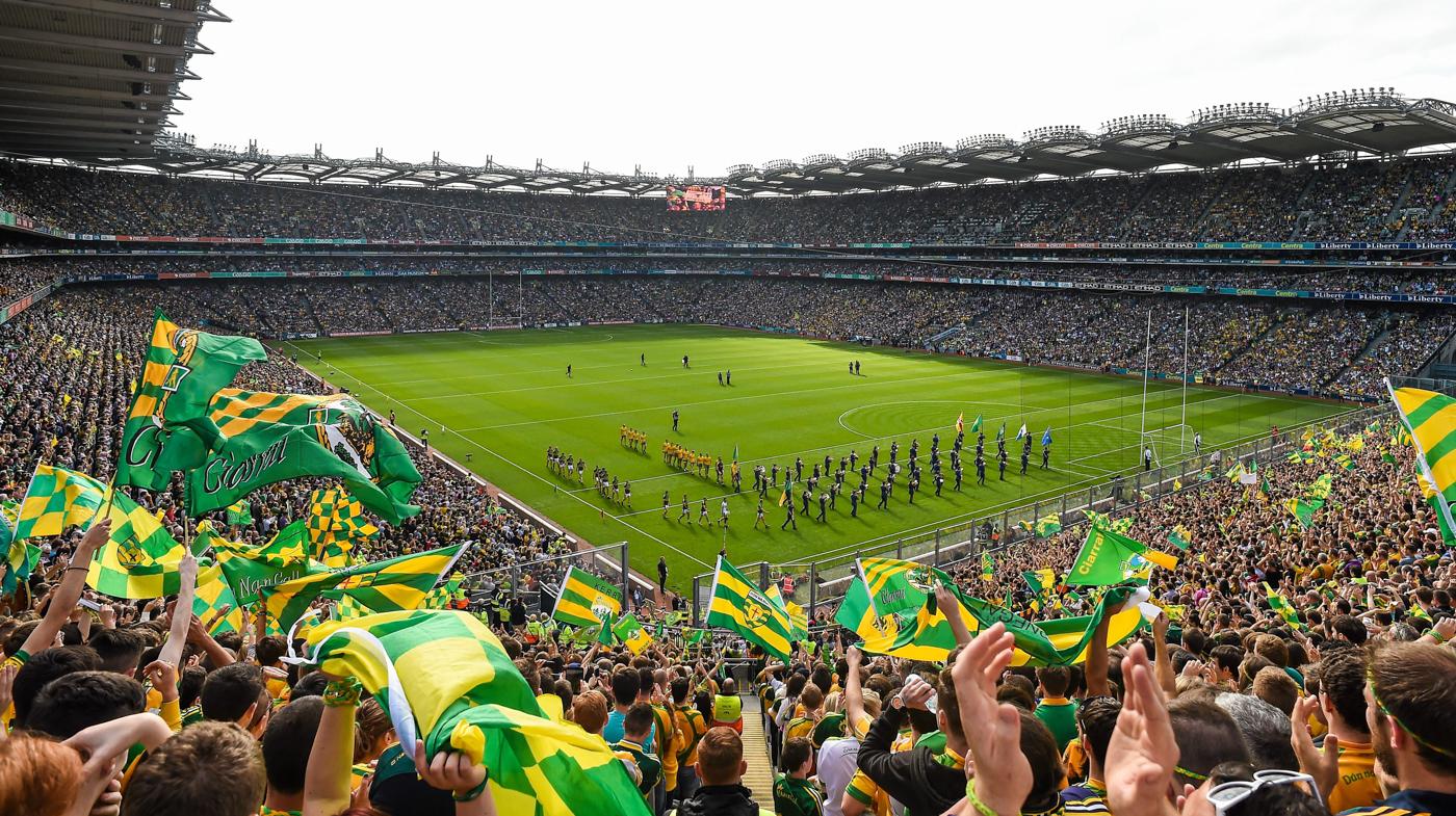 Sport in Action at Croke Park Stadium Dublin Ireland