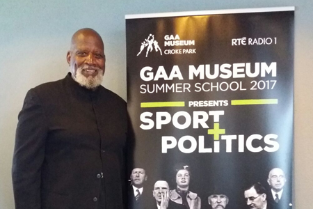 Renowned activist and sociologist Doctor Harry Edwards spoke at the 2017 GAA Museum Summer School.